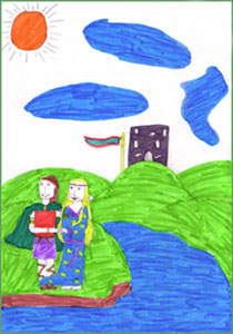 Artwork and story research by Fionnuala McLoughney and Clodagh Dooley, Coolderry National School, County Offaly, Ireland.